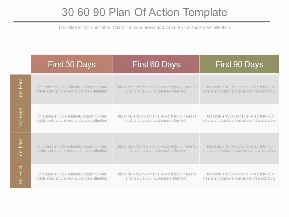 100 Day Plan Template Best Of 30 60 90 Plan Action Template Powerpoint Templates