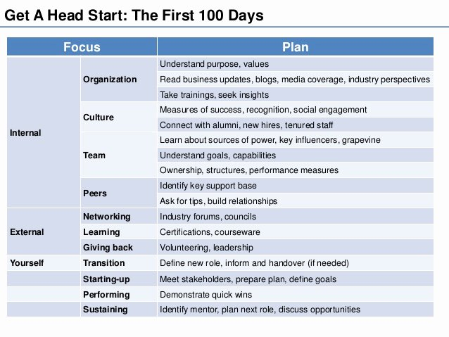 100 Day Plan Template New 100 Day Plan Template