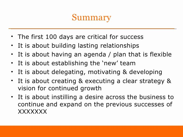 100 Day Plan Template New First 100 Days as Sales Director Sample