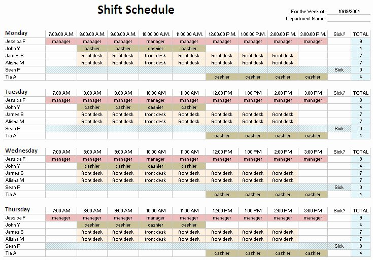 12 Hour Schedule Template Fresh 24 Hour Shift Schedule Template