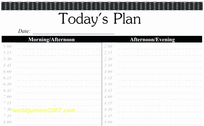 15 Minute Schedule Template Best Of Daily Calendar Template 15 Minute Increments