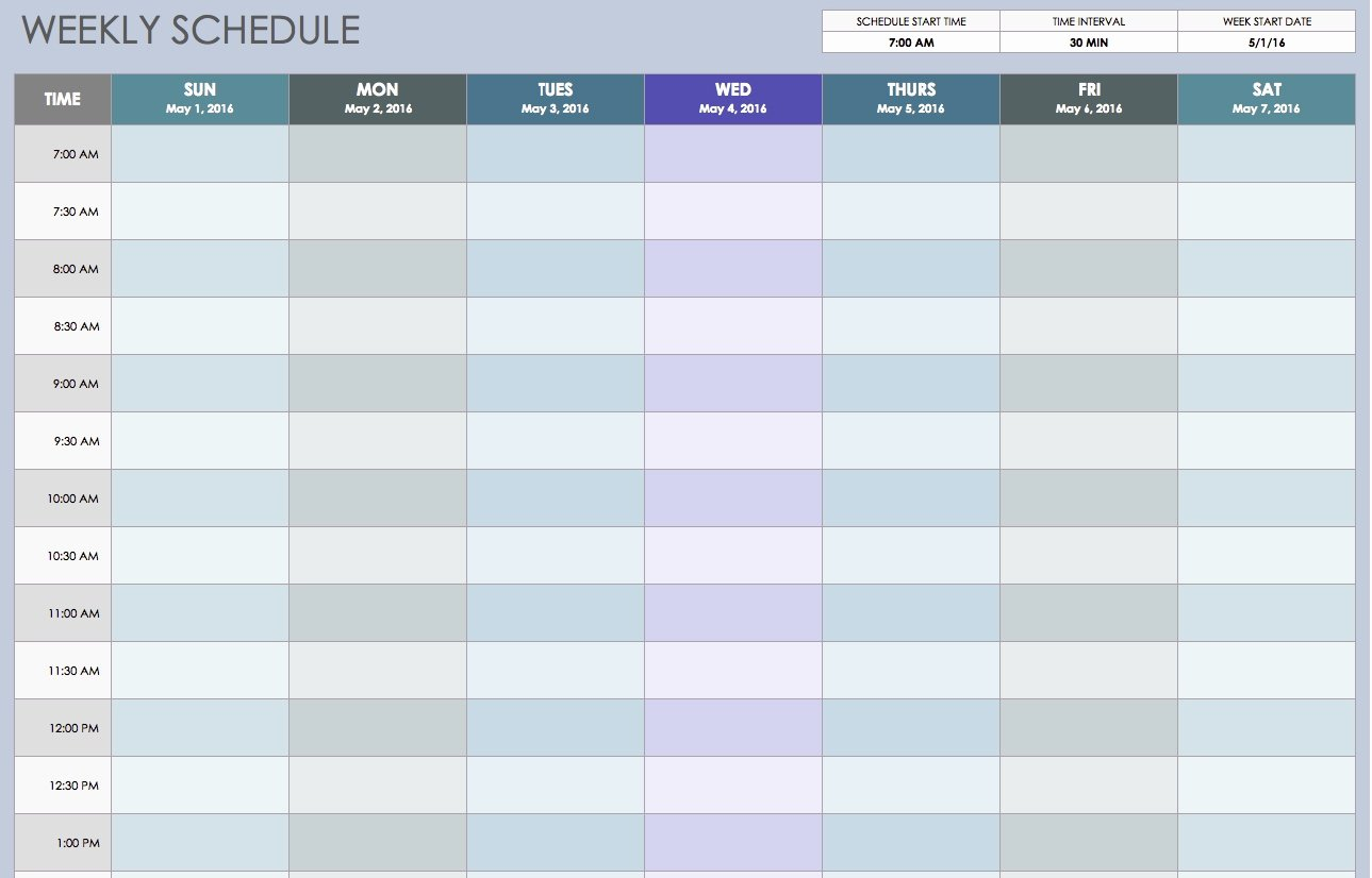 15 Minute Schedule Template Luxury Printable Weekly Calendar with 15 Minute Time Slots