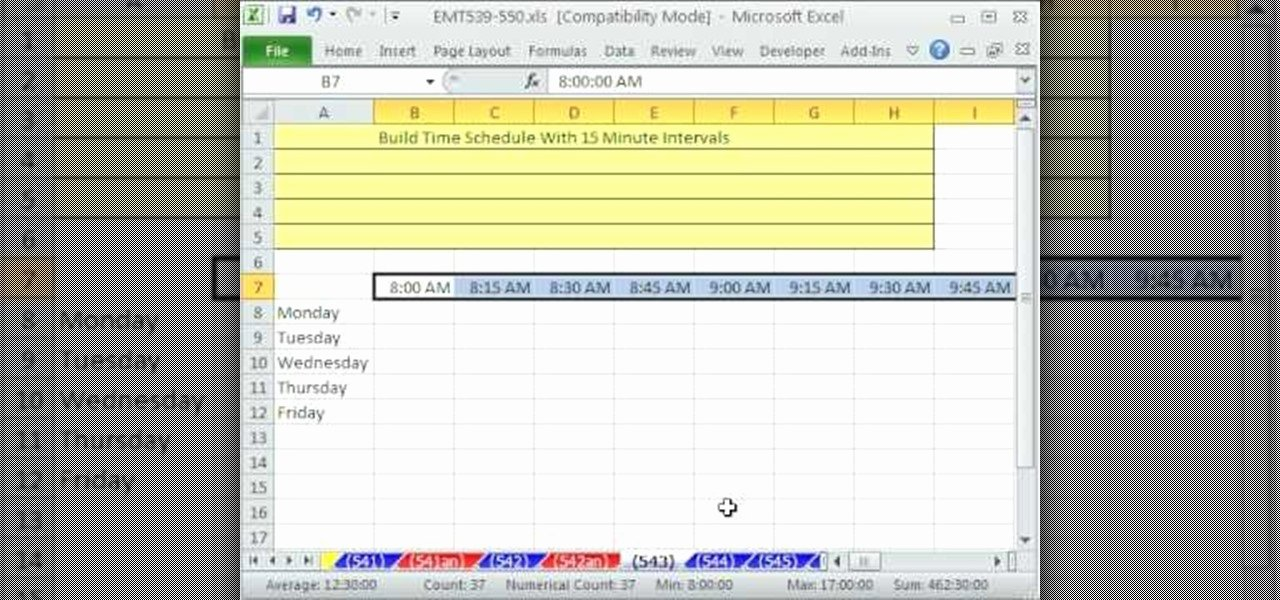 15 Minute Schedule Template New How to Build A 15 Minute Schedule In Microsoft Excel