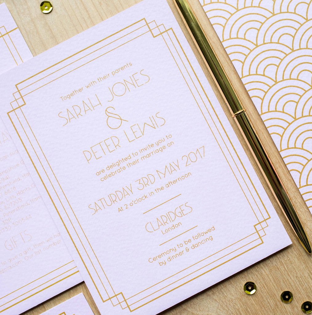 1920s Invitation Template Free Fresh Art Deco S Wedding Invitations by sincerely May and S