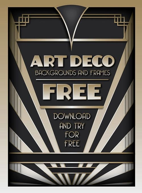 1920s Invitation Template Free Luxury Download and Try the Best Selling Art Deco Backgrounds and
