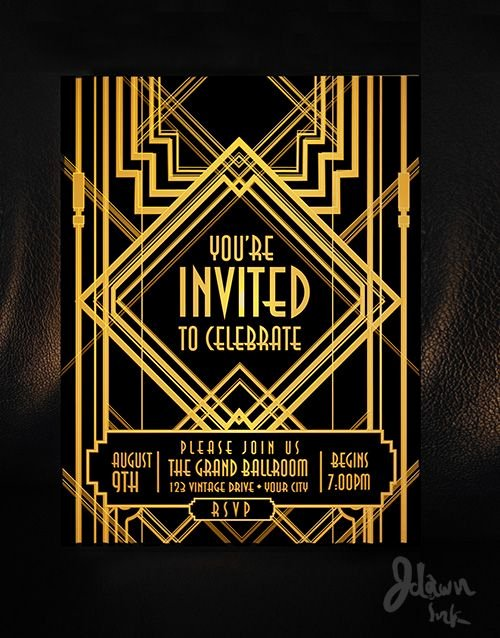1920s Invitation Template Free New 17 Best Images About Gatsby Invitation On Pinterest