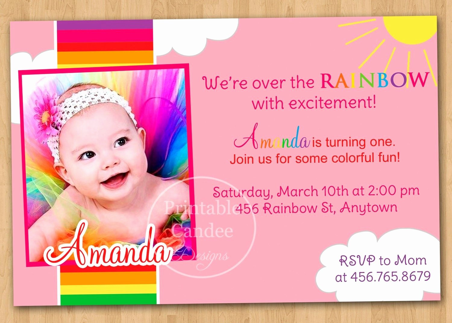 1st Birthday Card Template Awesome 1st Birthday Invitation Cards Templates Free