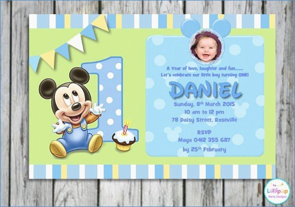 1st Birthday Card Template Beautiful Editable 1st Birthday Invitation Card Free Download