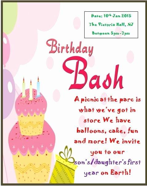 1st Birthday Card Template Elegant 10 Best Printable 1st Birthday Invitation Templates Images