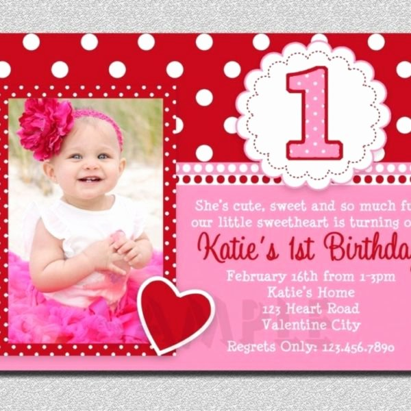 1st Birthday Card Template Inspirational Birthday 1st Birthday Invitation Card Template Free