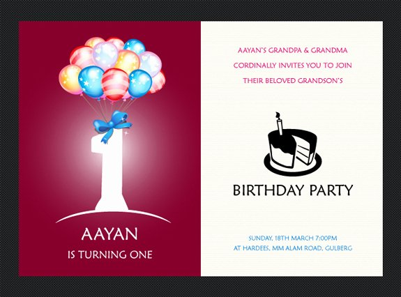 1st Birthday Card Template Inspirational Free Birthday Invitation Templates – the Design Work