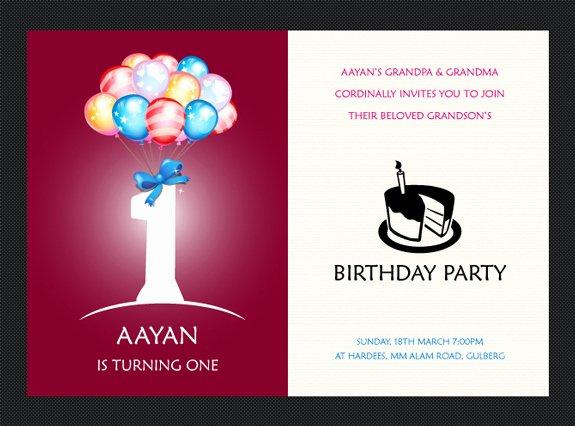 1st Birthday Card Template Inspirational Free Birthday Invitation Templates – the Design Work