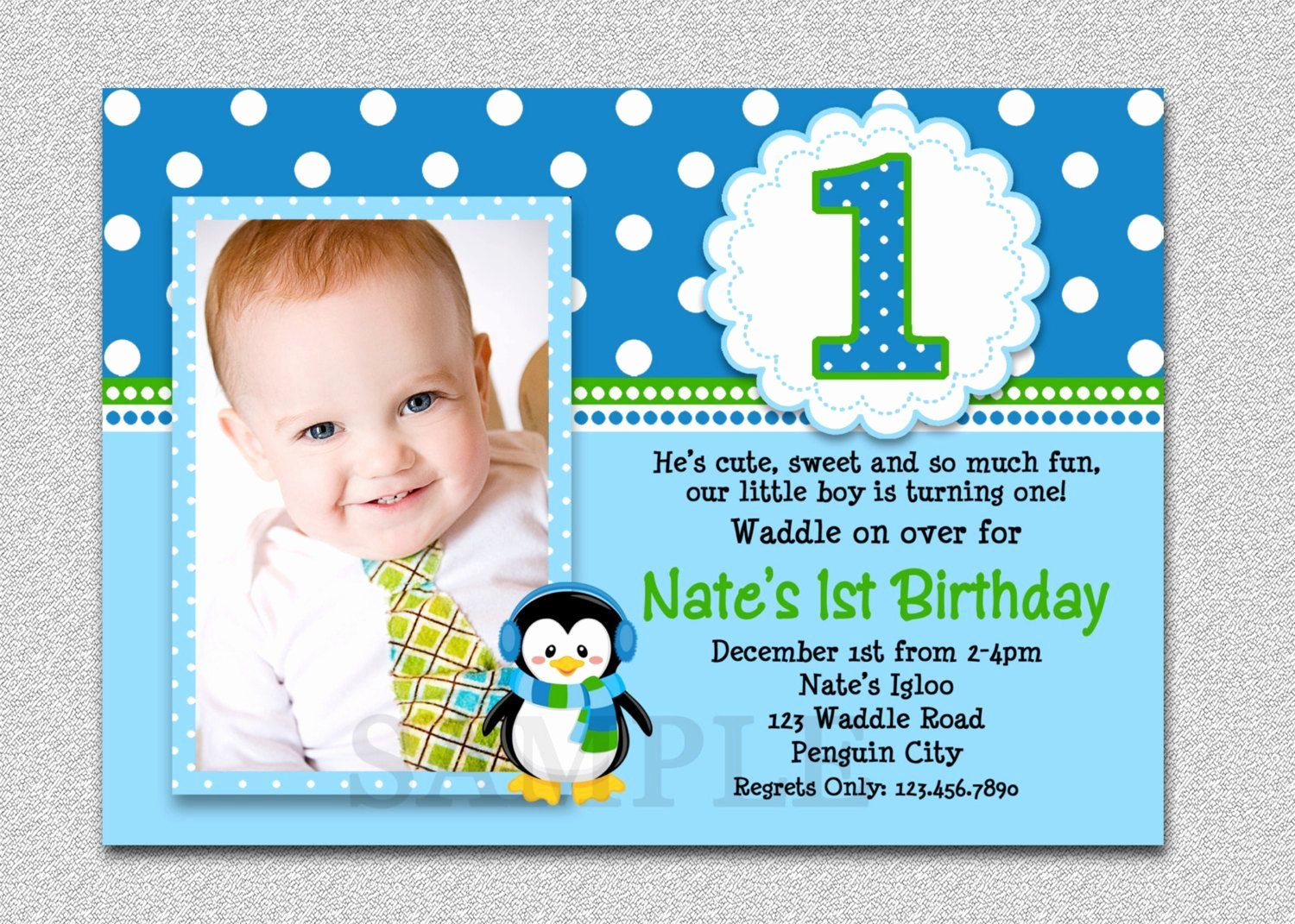 1st Birthday Card Template Lovely 1st Birthday and Baptism Bined Invitations
