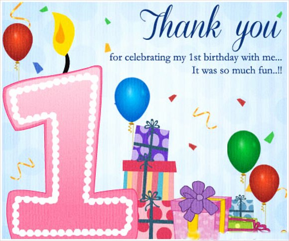 1st Birthday Card Template Lovely Thank You Card Templates Free Sample Example format