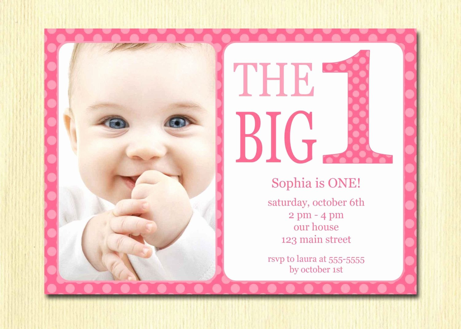 1st Birthday Card Template Luxury Download now Free Printable 1st Birthday Invitations