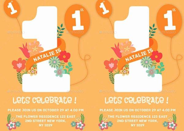 1st Birthday Card Template New 72 Birthday Card Templates Psd Ai Eps