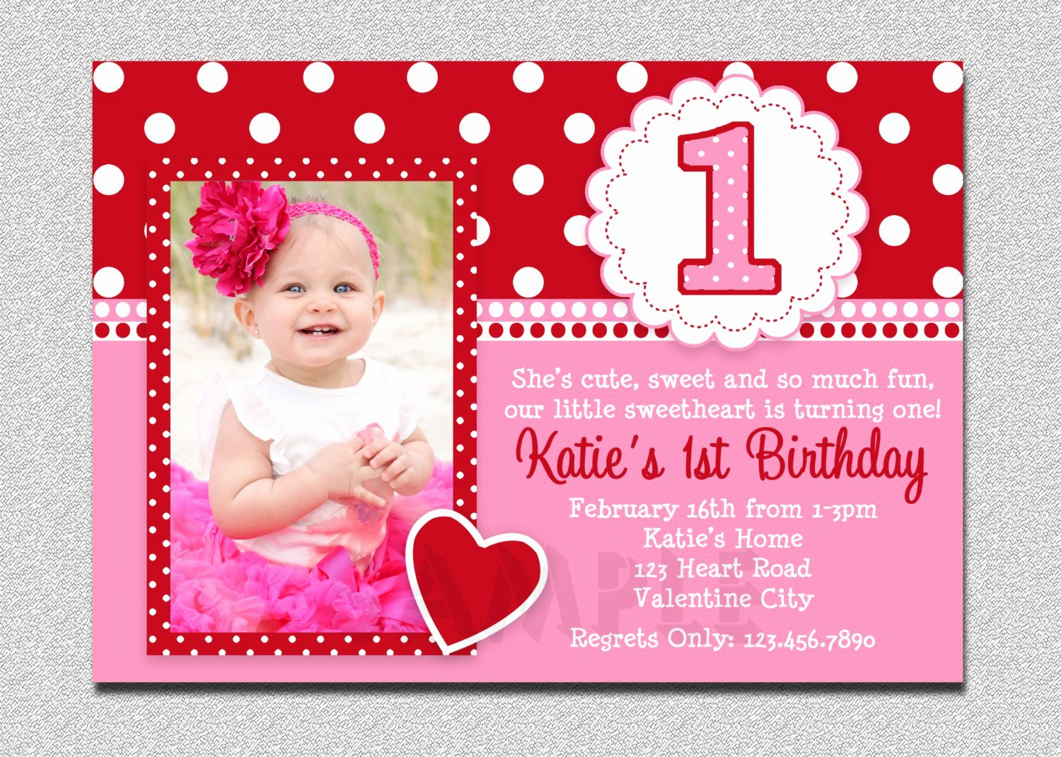 1st Birthday Card Template Unique 1st Year Birthday Invitation Cards Sample