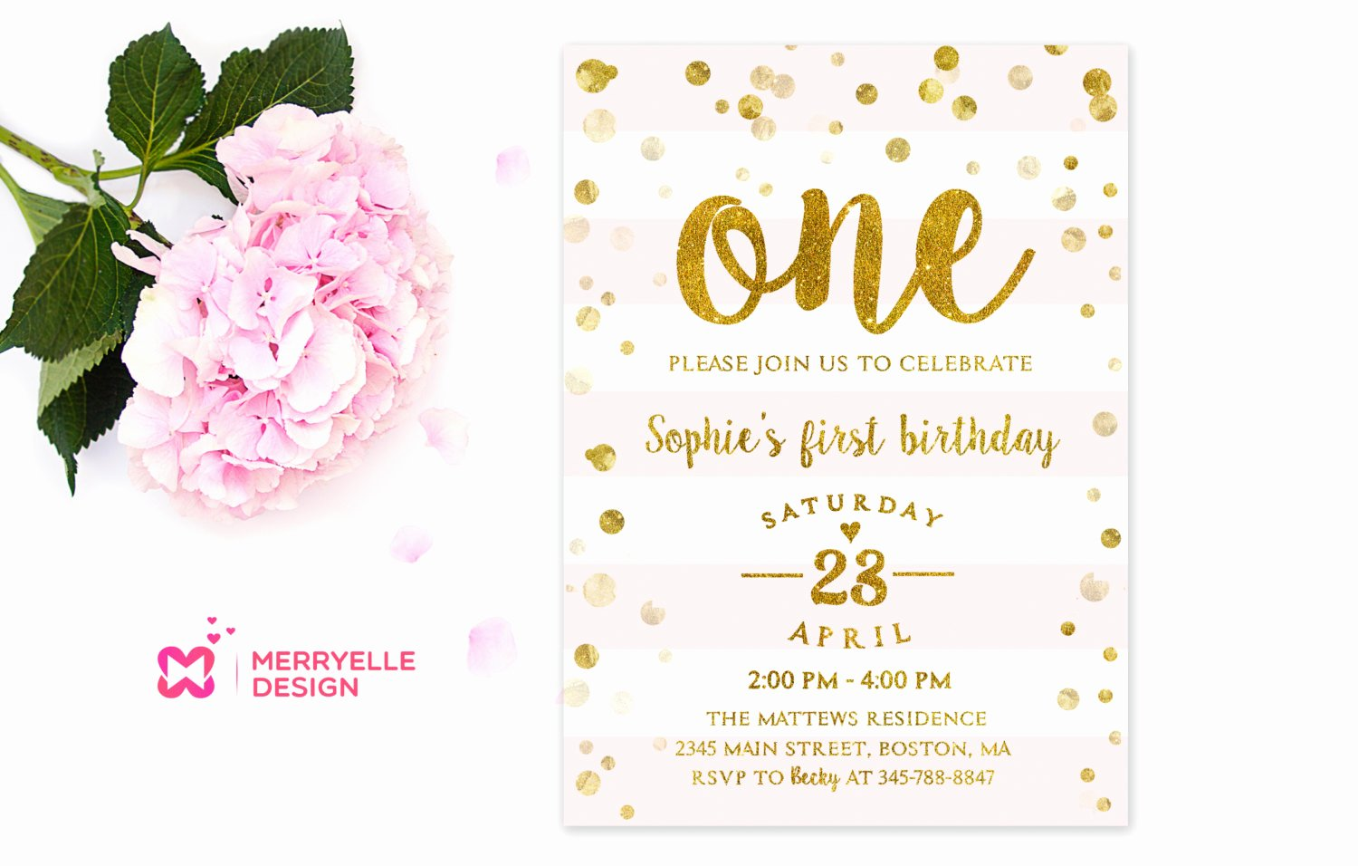 1st Birthday Invitation Template Best Of First Birthday Invitation Girl 1st Birthday Girls Party
