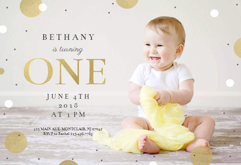 1st Birthday Invitation Template Fresh 1st Confetti Free Birthday Invitation Template