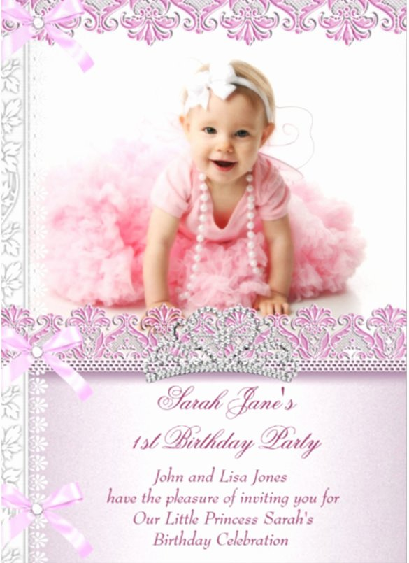 1st Birthday Invitation Template Inspirational 32 First Birthday Invitations Psd Vector Eps Ai