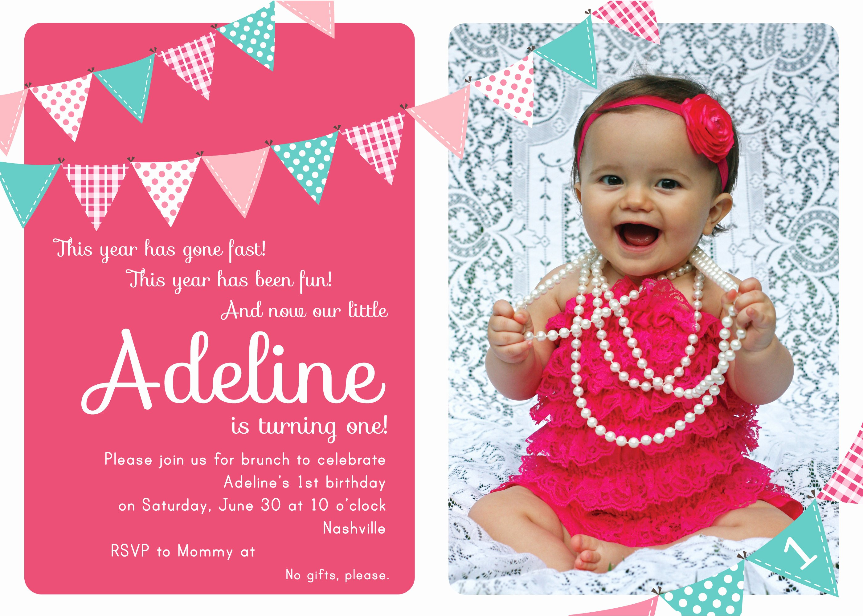 1st Birthday Invitation Template Inspirational First Birthday Party Invitation Ideas – Free Printable