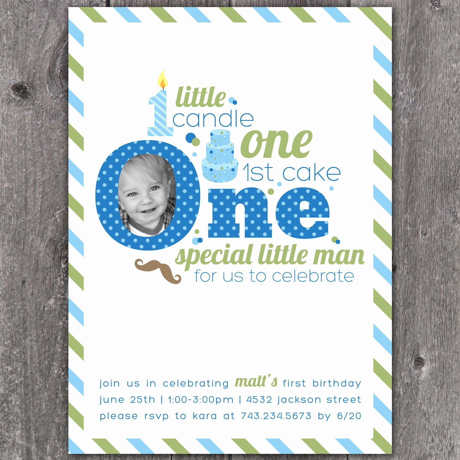 1st Birthday Invitation Template Lovely E Little Man Custom Digital First Birthday