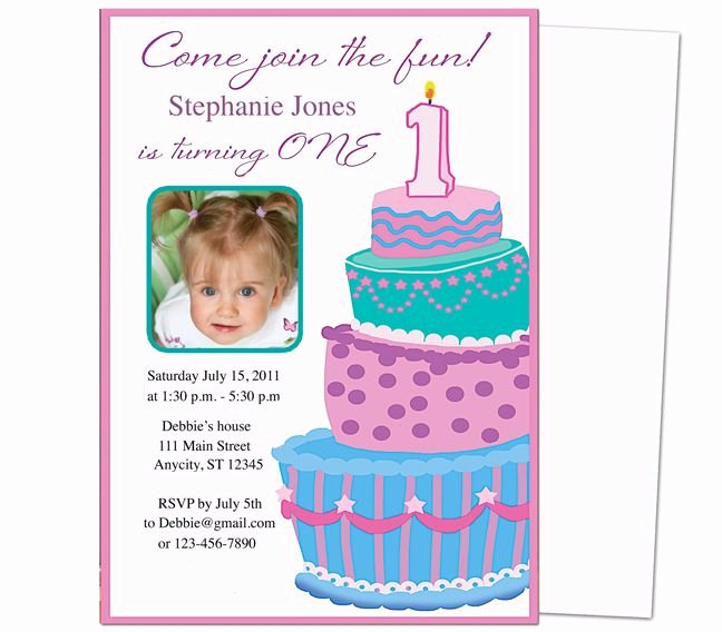1st Birthday Invitation Template New 13 Best Images About Printable 1st First Birthday