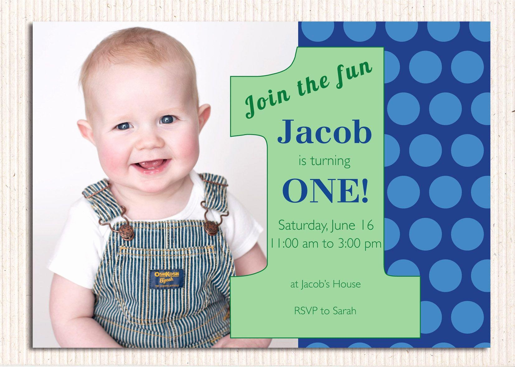 1st Birthday Invitation Template New 16 Best First Birthday Invites – Printable Sample
