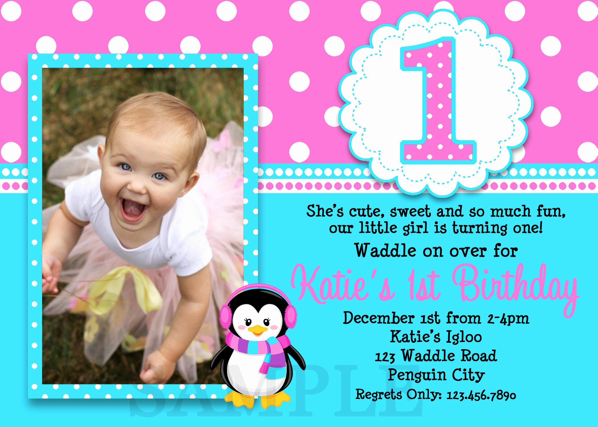 1st Birthday Invitation Template Unique 1st Birthday Invitations Girl Free Template Baby Girl S