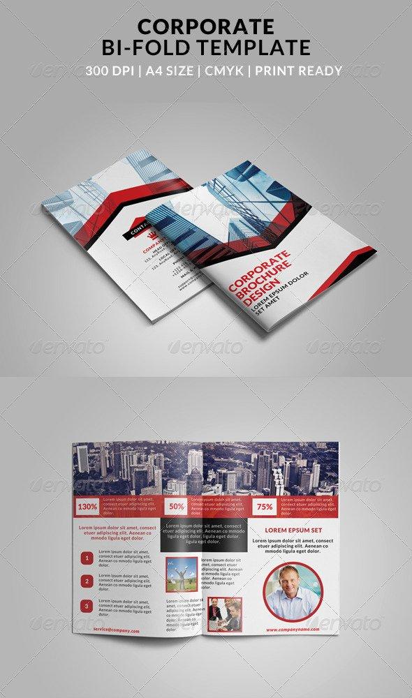 2 Fold Brochure Template Awesome 4 Fold Brochures Illustrator Tinkytyler Stock