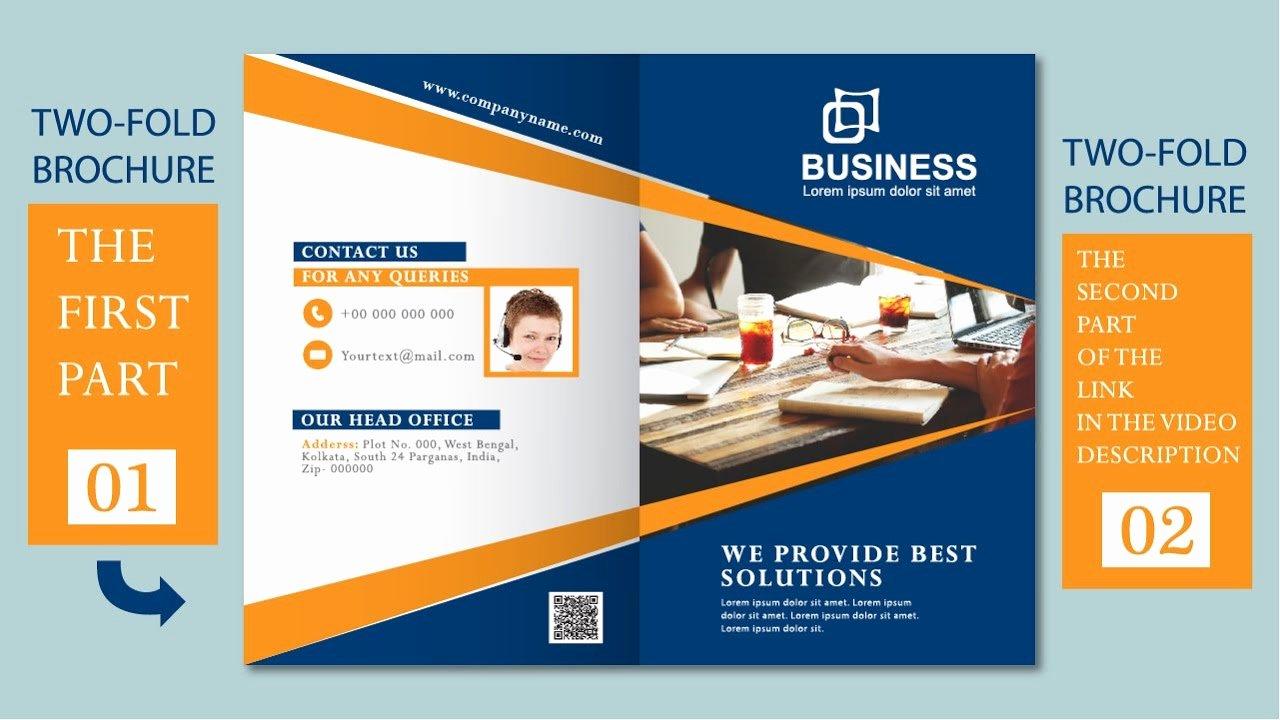 2 Fold Brochure Template Awesome Illustrator Tutorial Two Fold Business Brochure Template
