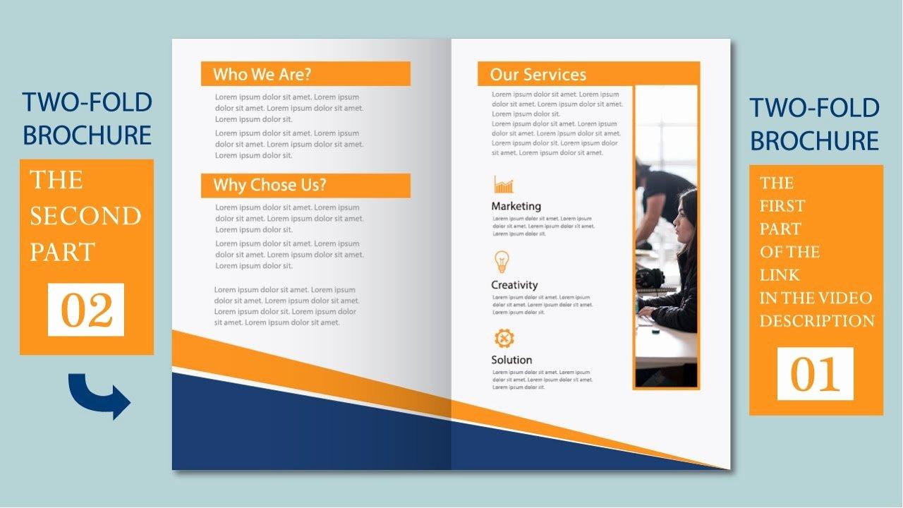2 Fold Brochure Template Best Of Illustrator Tutorial Two Fold Business Brochure Template