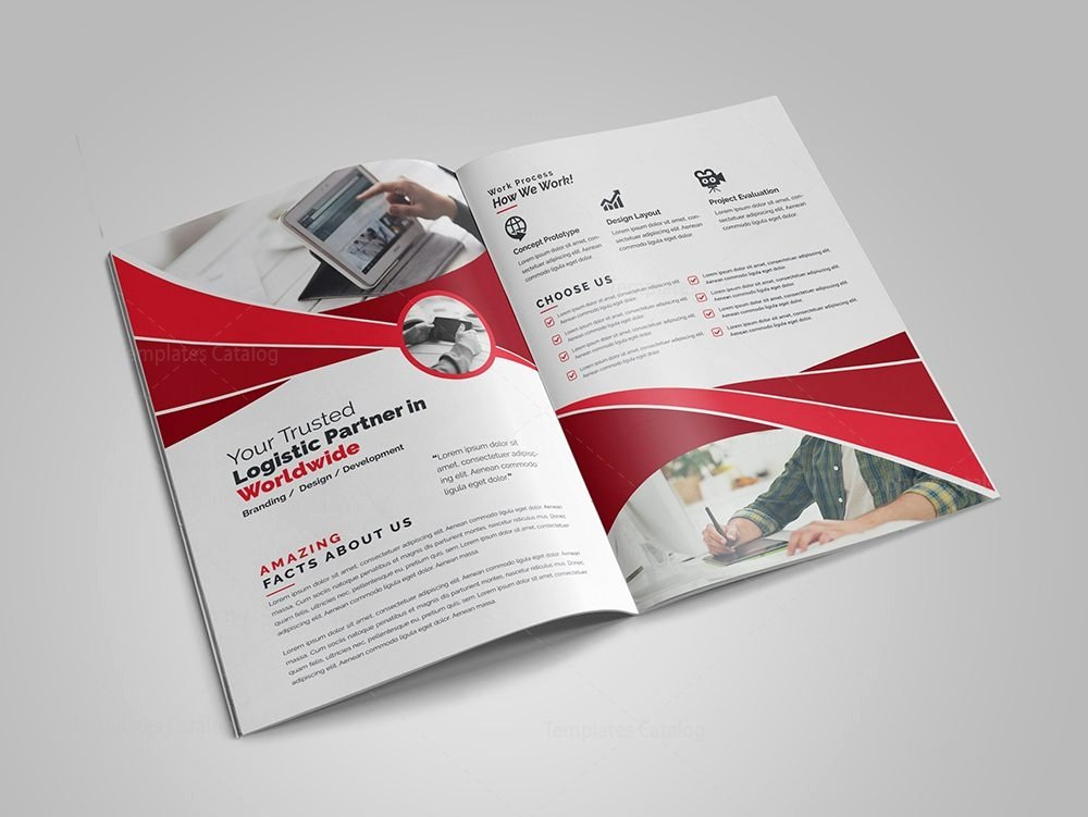 2 Fold Brochure Template Elegant Modern Business Bi Fold Brochure Design Template