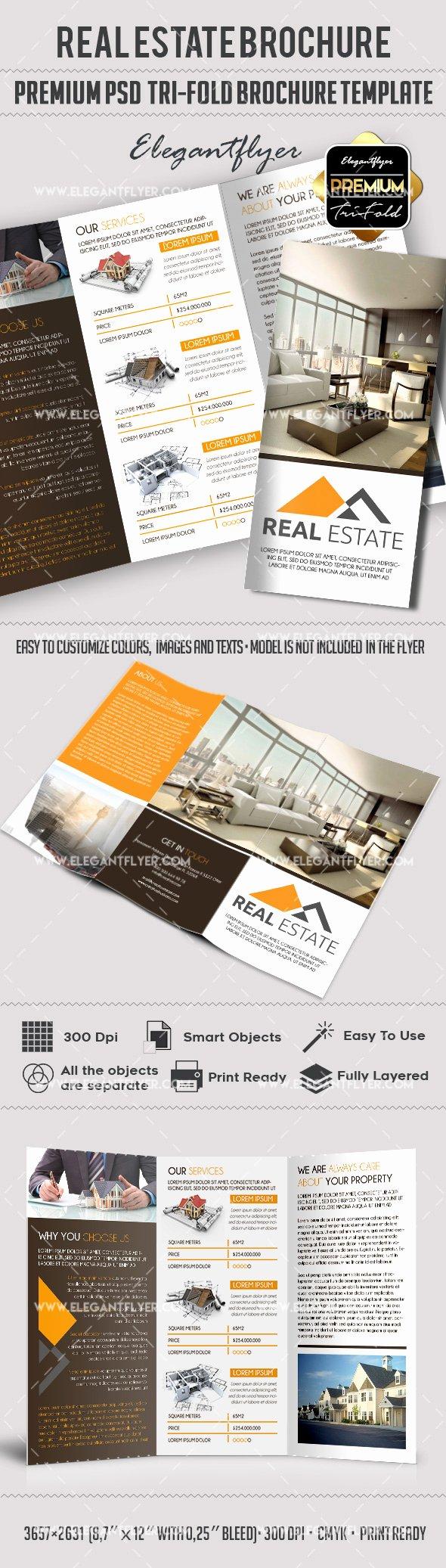 2 Fold Brochure Template Elegant Psd Brochure for Mercial Real Estate – by Elegantflyer