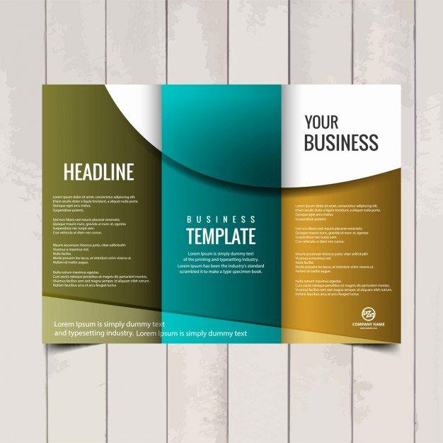 2 Fold Brochure Template Fresh Tri Fold Brochure Template Vector