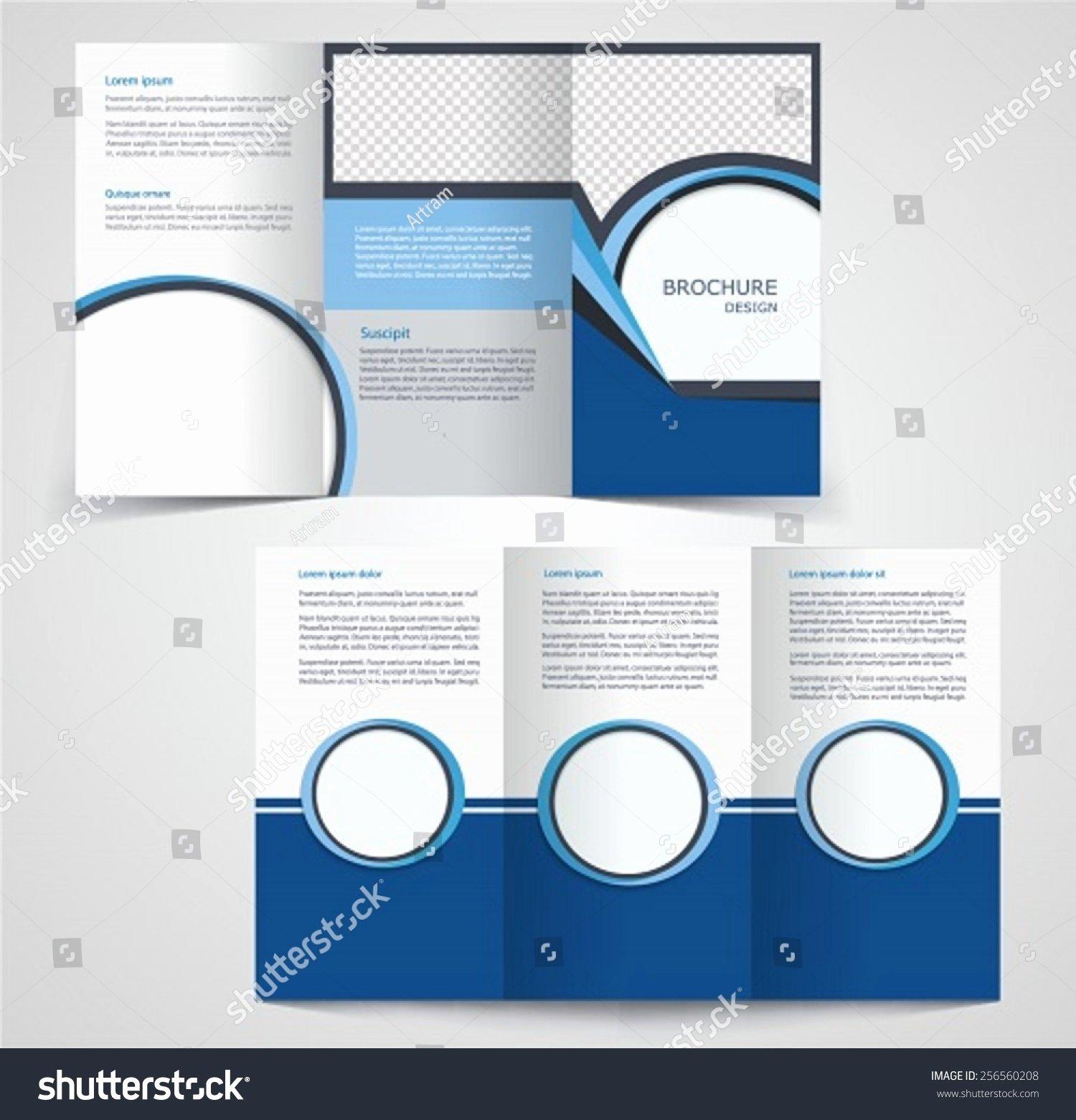 2 Fold Brochure Template Fresh Trifold Business Brochure Template Twosided Template Stock