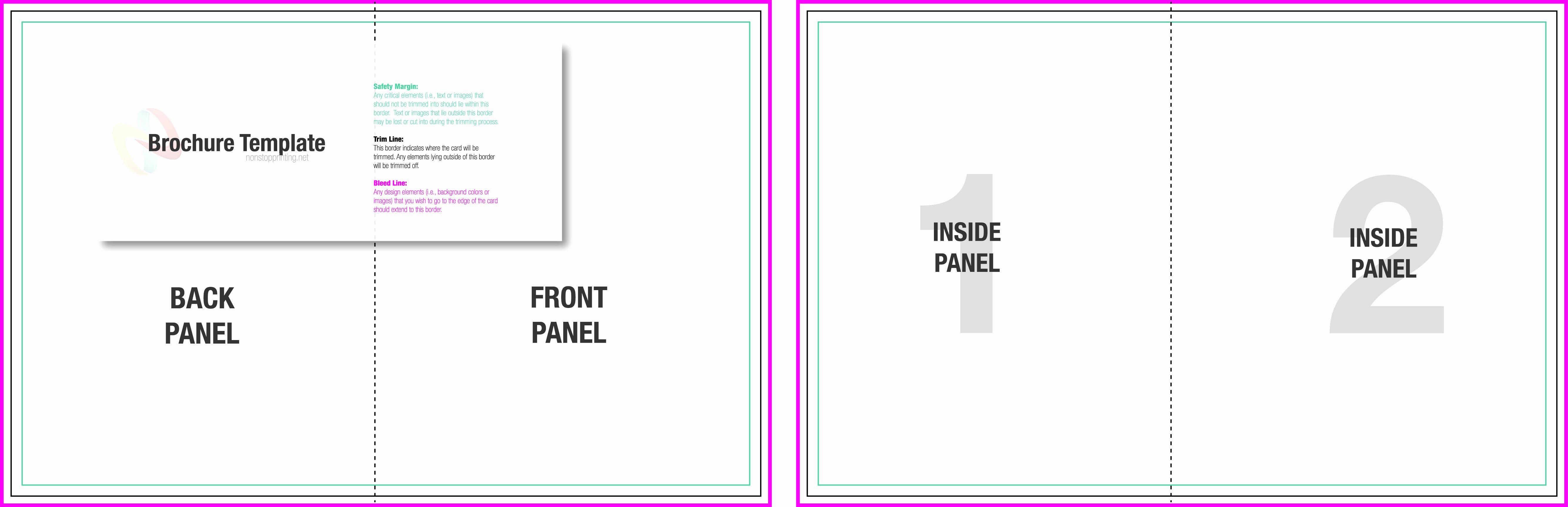 2 Fold Brochure Template Inspirational 10 Best Of Two Fold Brochure Template Half Fold