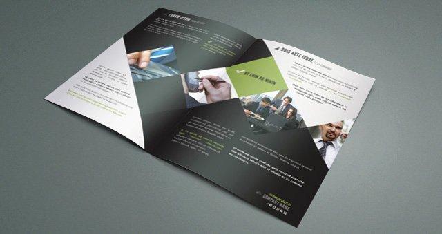 2 Fold Brochure Template Luxury Corporate Bi Fold Brochure Template