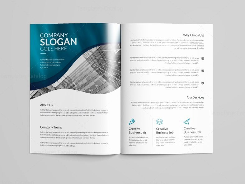 2 Fold Brochure Template Luxury Halley Professional Bi Fold Brochure Template