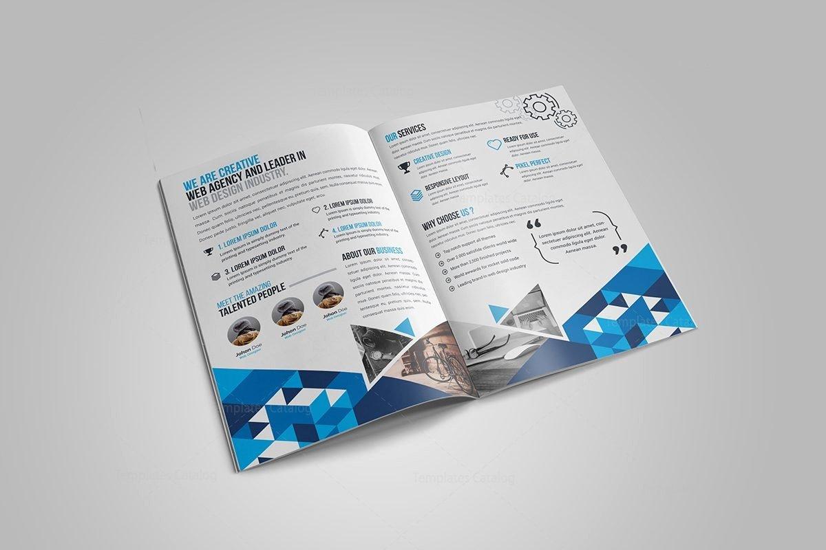 2 Fold Brochure Template New Gem Corporate Bi Fold Brochure Template Template