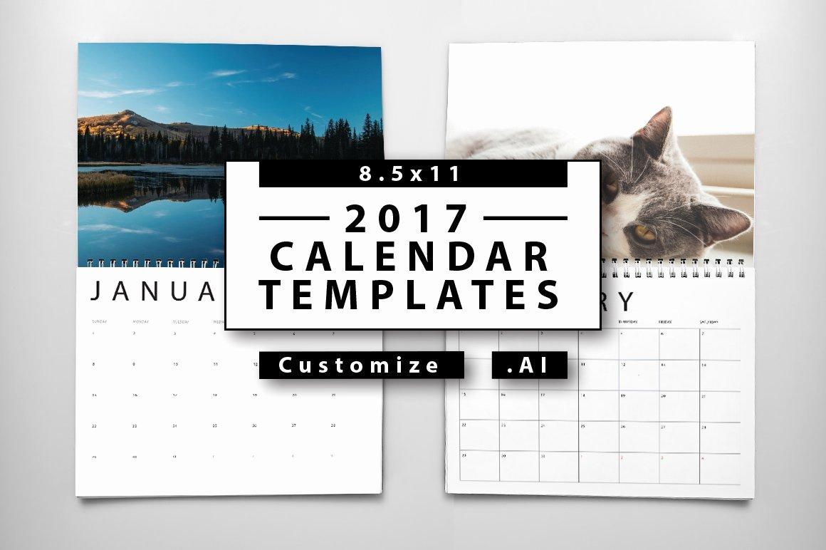 2016 Calendar Template Indesign Awesome 2017 Calendar Templates Templates Creative Market