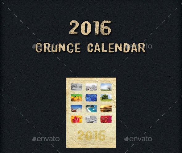 2016 Calendar Template Indesign Awesome Adobe Indesign 2016 Calendar Template