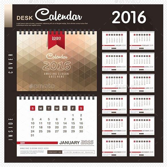 2016 Calendar Template Indesign Best Of 2016 Calendar Template – 46 Free Word Pdf Psd Eps Ai