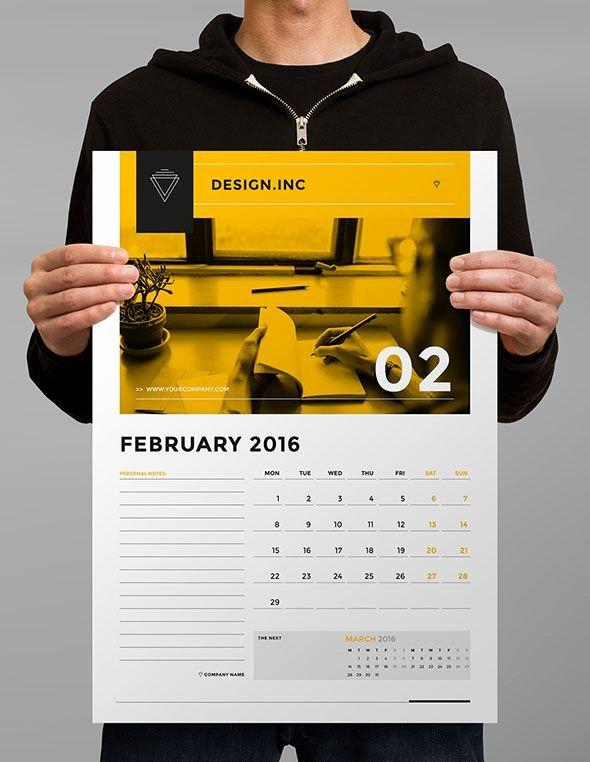 2016 Calendar Template Indesign Elegant 21 Best Calendar Templates for 2016 – Web & Graphic Design