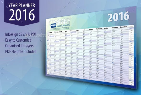 2016 Calendar Template Indesign Lovely Get Ready for 2016 with Printable Monthly Calendar and