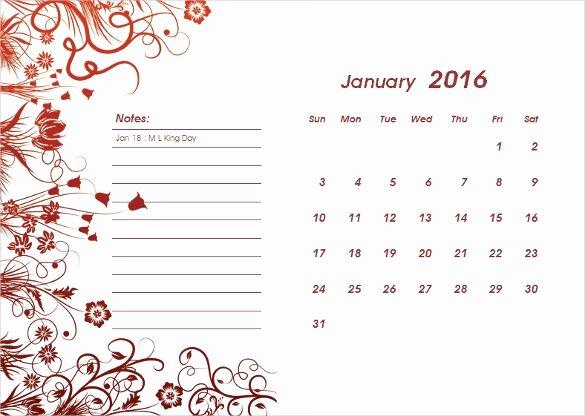 2016 Calendar Template Indesign New 2016 Calendar Template – 46 Free Word Pdf Psd Eps Ai