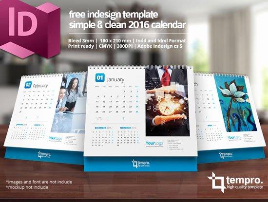 2016 Calendar Template Indesign New Indesign 2016 Desktop Calendar Template