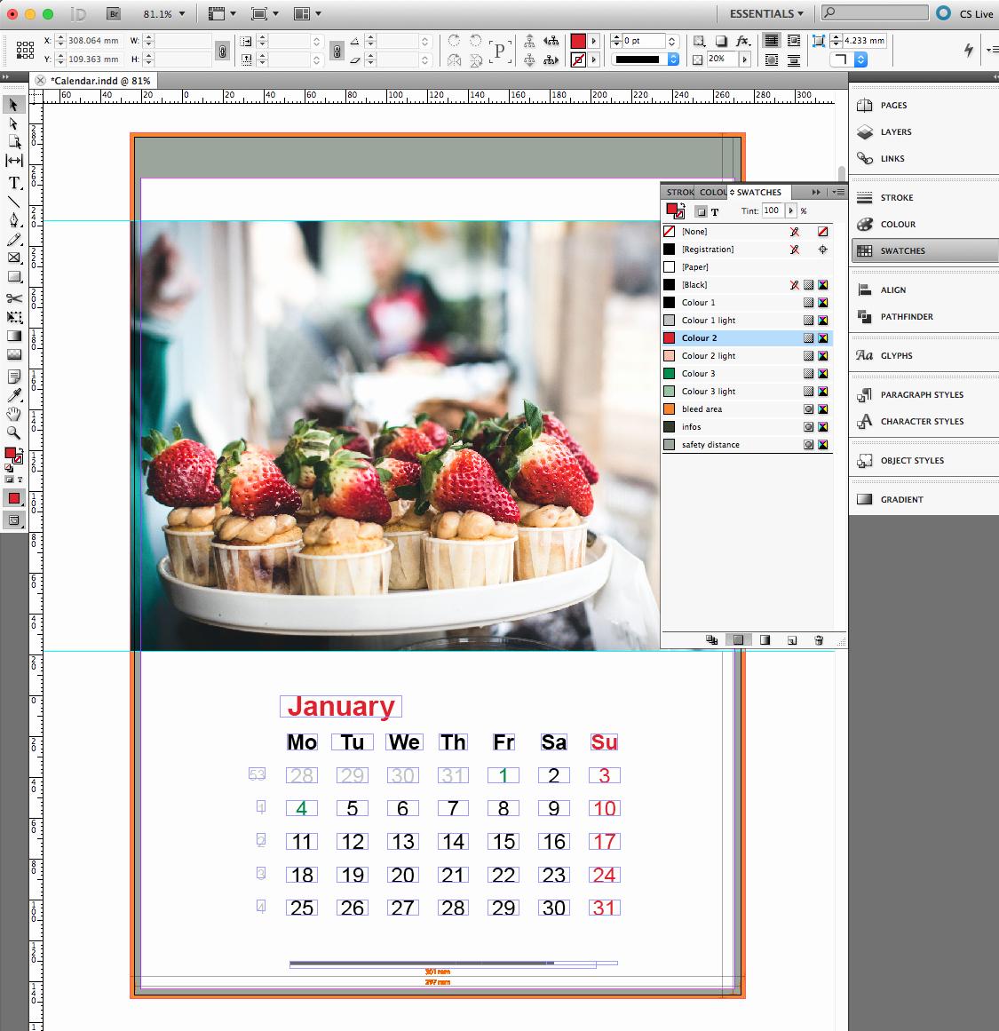 2016 Calendar Template Indesign Unique Corporate Calendar In Indesign Incl Template Saxoprint