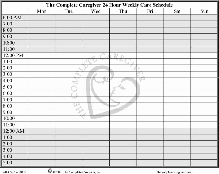 24 Hour Calendar Template Inspirational 8 24 Hours Schedule Template Free Download