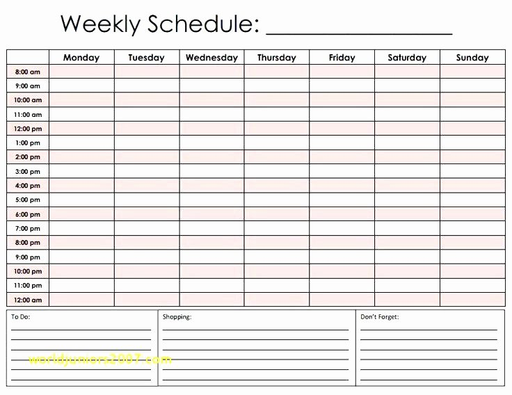 24 Hour Planner Template Fresh Hr Schedule Template Hour by Planner Facile Relevant
